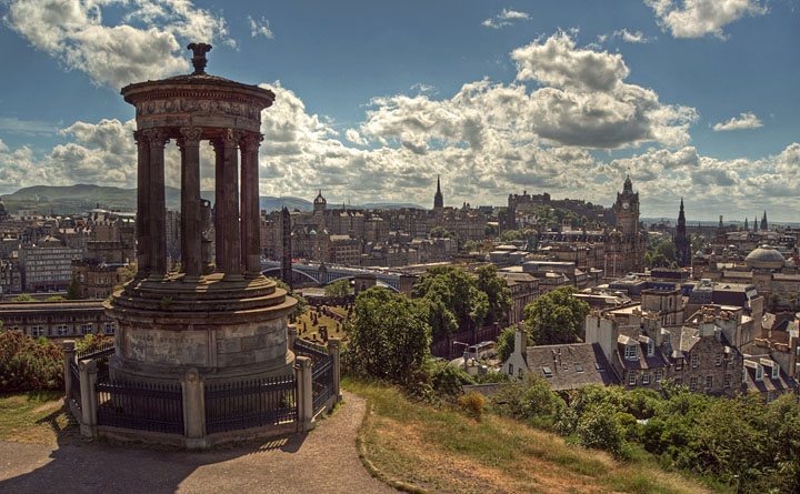 University of Edinburgh from the Calton Tower
