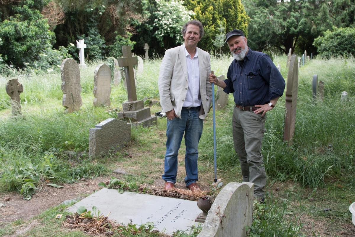 BWS Secretary Dr Ian Ground & Stonemason Mr. Eric. Marland