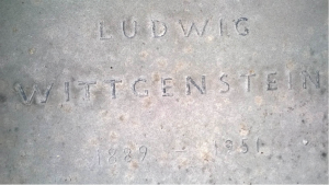 THE LETTERING AFTER CLEANING OF THE SANDSTONE REVEALING TRACES OF THE ORIGINAL BLACK PAINT